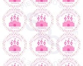 Princess Mix and Match 2 inch circle Cupcake toppers or tags Printable Personalized Digital File DIY