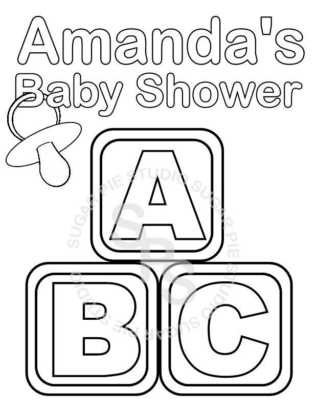 zoom - Free Printable Baby Shower Coloring Pages