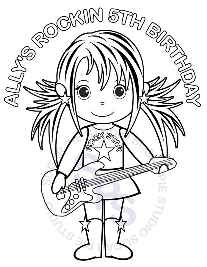 rock stars coloring pages - photo#16