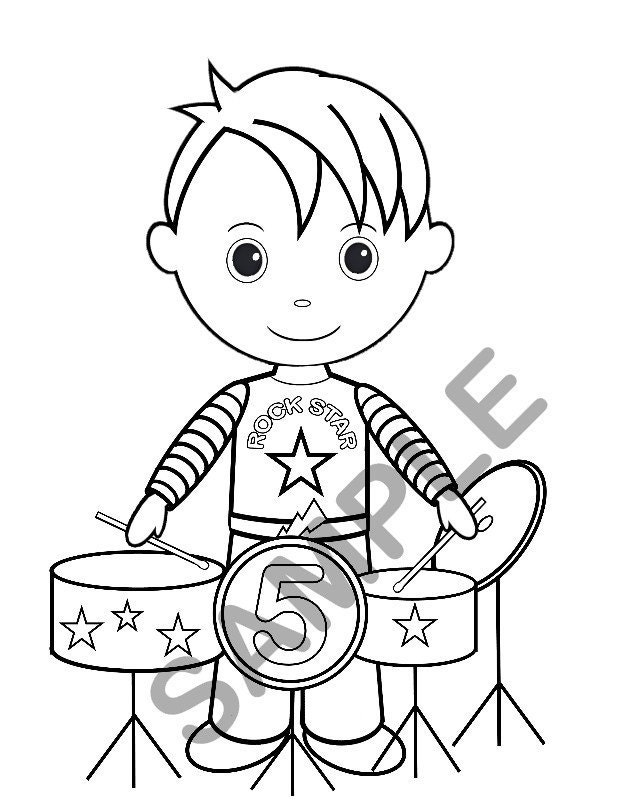 Rock Star Coloring Coloring Pages Rock Star Coloring Pages