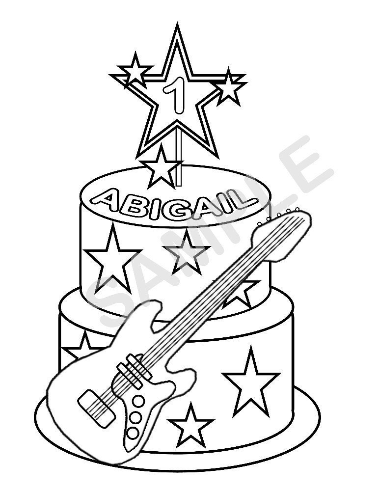 rockstar coloring pages - photo#33