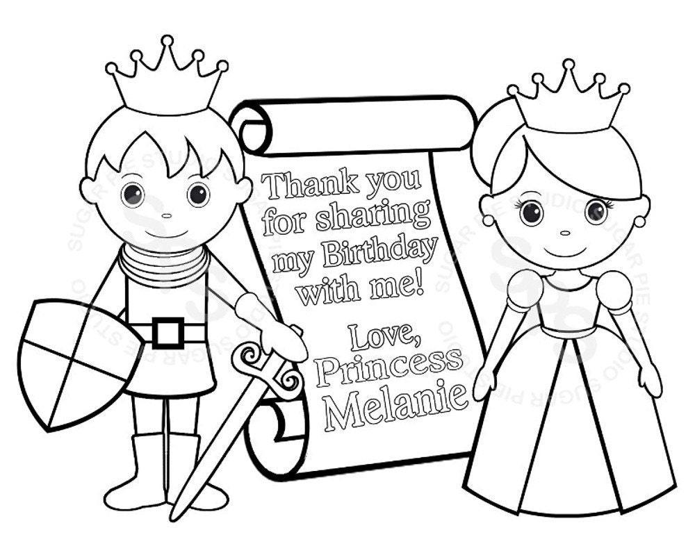 Personalized Printable Princess Prince Knight Scroll Birthday