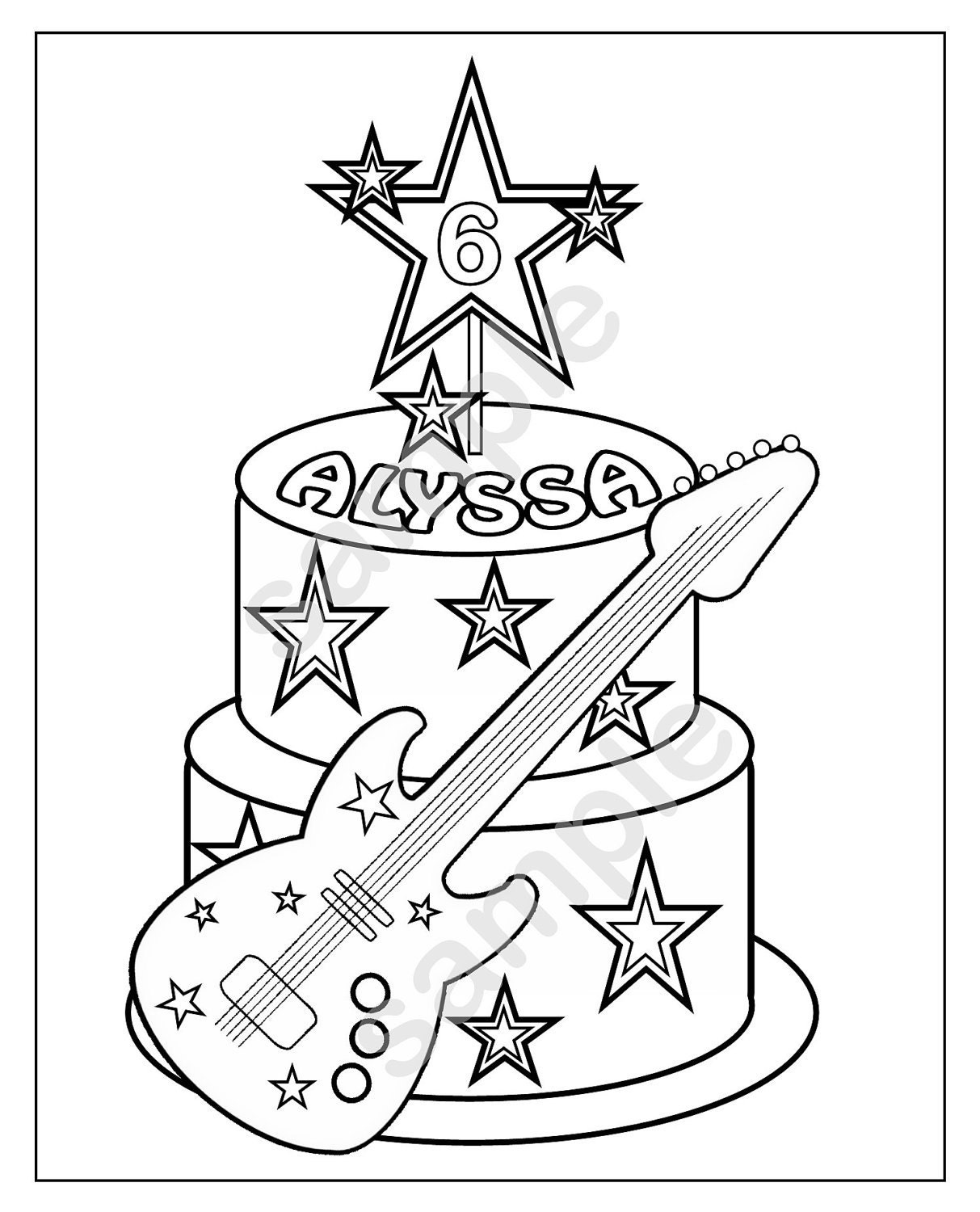 Personalized Printable Rockstar