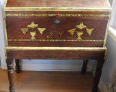 Huge Mexican 1800s Wedding Chest / Trunk on base