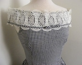 1950s Vintage Gingham County Fair Dress free shipping