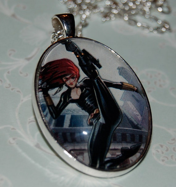"""Black Widow - Pendant with 24"""" Chain"""