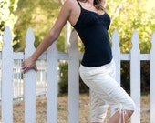 Hemp & Silk White Bermuda Short- S