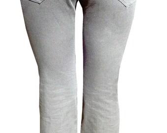 Grey Organic Cotton Twill Pants Medium