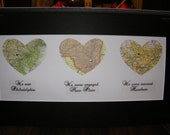 Our Heart-Line  (3 hearts) - A Fantastic Bridal Shower or Wedding Gift