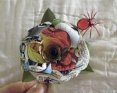 Spiderman Comic Book  Boutonniere with spider accent