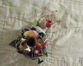 Spiderman Comic Book Boutonniere with spider and web accent