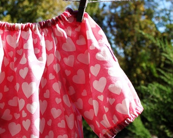 Trendy yet cute pink NYBRO heart top in Swedish/Scandinavian design by Lingonberry Latitude - Ready to ship in 2T