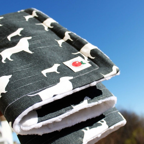 Super soft, warm and cuddly dog stroller blanket in Swedish/Scandinavian design by Lingonberry Latitude - Ready to ship