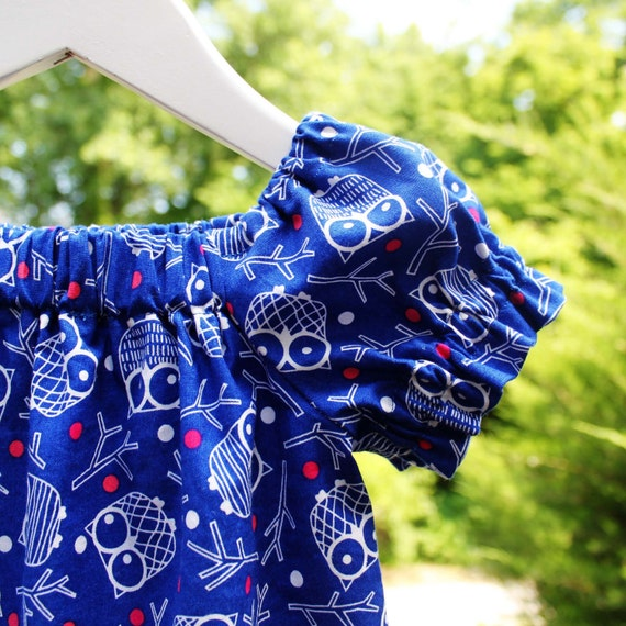 Fashionable owl tunic/top in Swedish/Scandinavian design by Lingonberry Latitude - Ready to ship