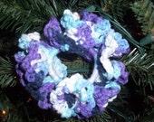 Multi-Colored Crocheted Scrunchie