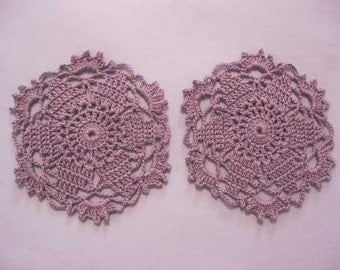 Set of Two Crocheted Doilies