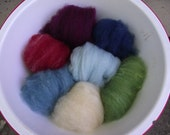 baby batts-naturally dyed wool for spinning or felting