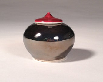 Small Lidded Jar - Mirror Glaze