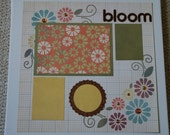 Bloom Premade Single 12 x 12 Layout