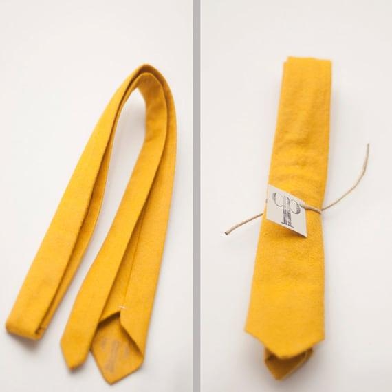 Skinny Handmade Wool Felt Necktie