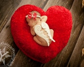 Little Angel Wings - PERFECT WHITE - Wood Carved - Photography Prop - Newborn Valentine Day