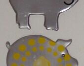 2 Pigs - Tropicana Lemonade Fruit Juice Soda Can Magnet Set
