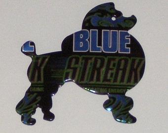 Sitting Show Poodle Magnet - Blue Streak Energy Drink Can