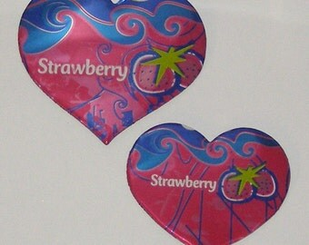 2 Hearts - Pink Strawberry Cola Soda Can Magnets