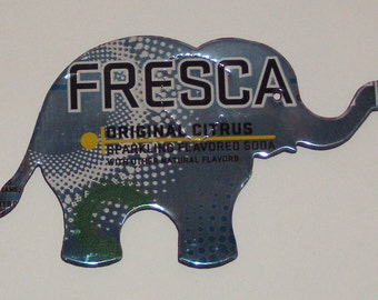 Elephant Magnet - Aqua Teal Blue Fresca Soda Can (Replica)