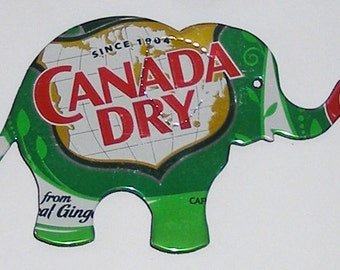 Elephant Magnet - Canada Dry Ginger Ale Soda Can Magnet (Replica)