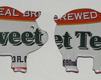 2 Pig Magnets - Arizona Southern Style Sweet Tea Soda Can