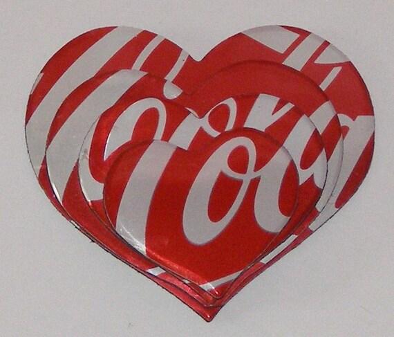 Heart Magnet - Coca Cola Soda Can