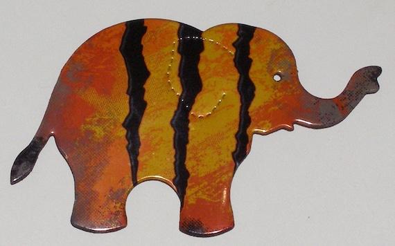 Elephant Magnet - Orange Monster Rehab Energy Drink Can