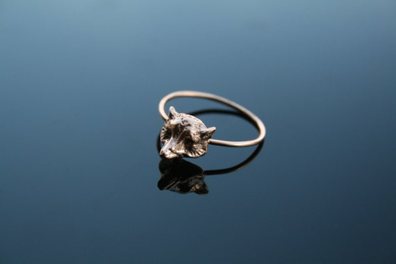Sterling silver , Gold plated fox ring
