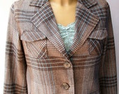 Vintage Plaid Women's Blazer.