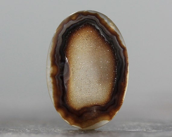 CLEARANCE - SALE - Druzy Agate Oval Gemstone - 30mm (C845)