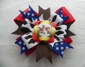 Deluxe Cowgirl and Horse Hairbow With Bottle Cap