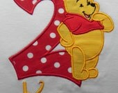 Applique Gold Bear With Number Shirt