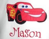 Applique Red Racecar Shirt