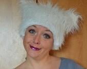 White Fuzzy Beastie Hat