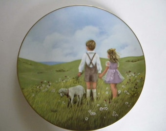 "Vintage Lorraine Trestor Collector  Plate "" Once Upon a Summertime"""