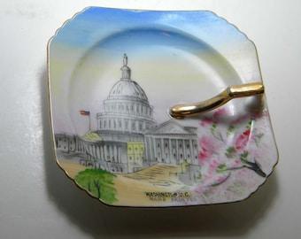 Vintage Washington, D.C. Nappy Plate Commemorative  Japan