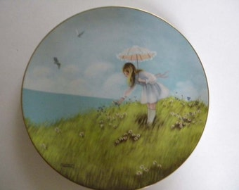 "Vintage Lorraine Trestor Plate ""One Lovely Yesterday"""