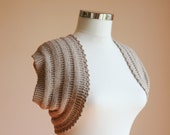 Knit Shrug in Dark Beige - Bridal Shrug - Neutral - Spring Summer Fashion - Womens Sweater - Bolero - Vest - Neutral