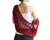 Red Shrug - Bridal Bolero  - Spring Fashion - Summer Accessories - Chic Elegant Womens Sweater Knit