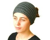 Headband Neck Warmer in Gray - Women Teens Accessories - Spring Fall Winter Fashion