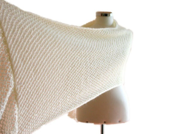 Sparkled Scarf in Creme - Off white Shawl - Chic Elegant Bridal Wrap - Women Accessories - Knit Fashion