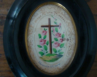 Rare Vintage Ex Voto Holy Cross