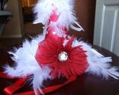 Diva Party Hat in Red - first birthday party hat party decoration birthday hat birthday party diva party hat feather party hat