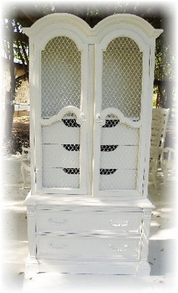 RESERVED - Shabby Vintage Chic Armoire